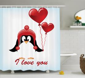 Ballons Ich liebe dich Duschvorhang