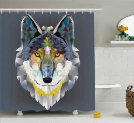 Wolf Kojote Porträt Art Duschvorhang