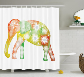 Elefant Daisy Blume Duschvorhang