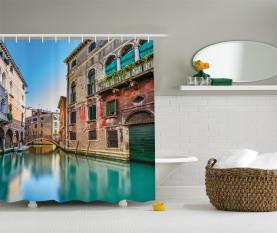 Italien Stadtwasserkanal Duschvorhang