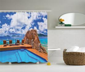 Ferien Resort Ozean Duschvorhang