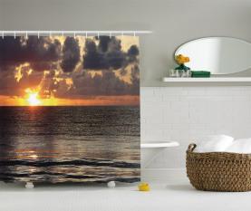 Sonnenaufgang Wolken Cancun Duschvorhang