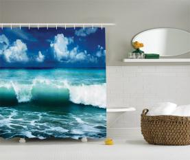 Karibik Seascape Wellen Duschvorhang
