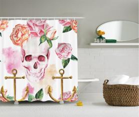 Anker Rosen Pfingstrose Art Duschvorhang