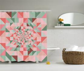 Geometrie gestaltet Pastell Duschvorhang