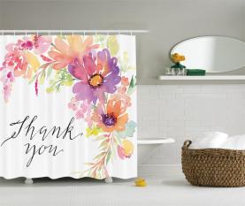 Romantische Blumenstrauß Pfingstrose Duschvorhang