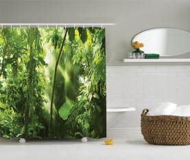 Sommer Tropischer Pflanzen Dschungel Duschvorhang