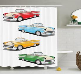 Roadster Old Vintage Duschvorhang