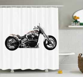 Motorrad-Power-Fahrt Duschvorhang