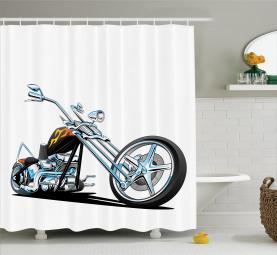 Amerikanischer Motorradsport Duschvorhang