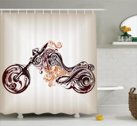 Curvy Blumenfahrrad Duschvorhang
