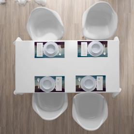 Modernes polygonales Design Platzmatten