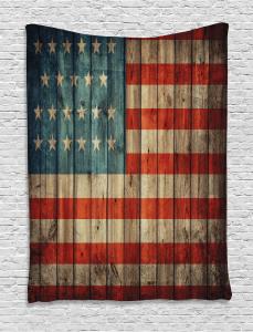 American  Tapestry Old National Patriotic Printed Wall Hanging