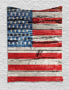 American  Tapestry Fourth of July Theme Printed Wall Hanging