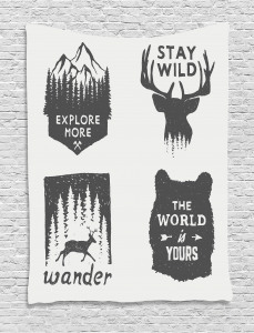 Quotes  Tapestry Stay Wild and Wander Printed Wall Hanging