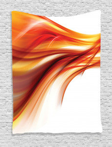 Modern  Tapestry Abstract Smooth Lines Printed Wall Hanging