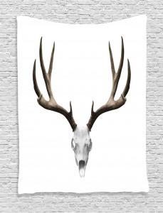 Antlers  Tapestry Deer Skull Skeleton Printed Wall Hanging