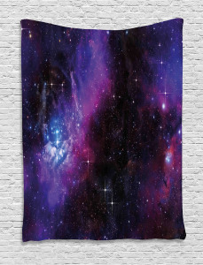 Space  Tapestry Nebula Dark Galaxy Stars Printed Wall Hanging