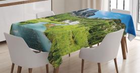 Kiefer-Wald Sibirien Tischdecke