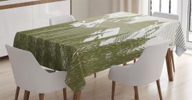 Künstlerischer gefrorener Wald Tischdecke