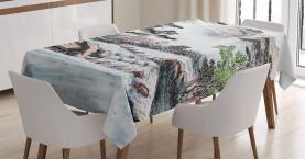 Berg- und Flussmalerei Tischdecke