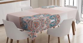 Orientalisches Blumen Ombre Muster Tischdecke