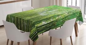 Frischer asiatischer Wald Tischdecke