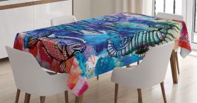 Aquarell Ozean Leben Tischdecke
