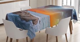 Planet Landschaftsansicht Tischdecke