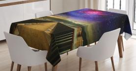 Galaxie-Kosmos-Brücke Tischdecke