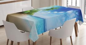 Strand Sonnenuntergang und Wellen Tischdecke