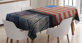 Patriotische Nationalflagge Tischdecke