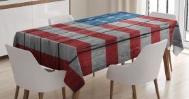 Abgenutzte Art-amerikanische Flagge Tischdecke