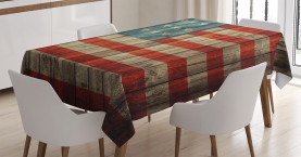 American  Tablecloth Old National Patriotic Printed Table Cover