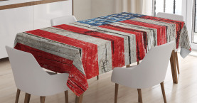 American  Tablecloth Fourth of July Theme Printed Table Cover