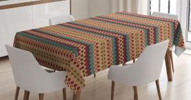 Aztekische Linienmuster Tischdecke