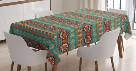 Ethnisches Blumenmotiv Tischdecke