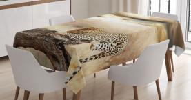Afrikanischer wilder Leopard Tischdecke