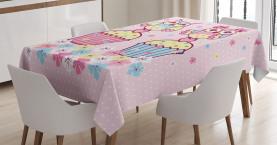 Paare Cupcakes romantisch Tischdecke