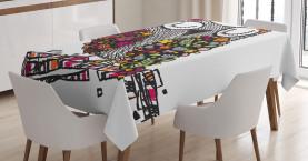 Geometrische Blumenblüten Tischdecke