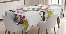 Vögel auf Ästen Tischdecke