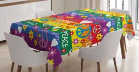 Herz-Friedens-Ikone festlich Tischdecke