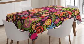 Hippie Paisley Blätter Tischdecke