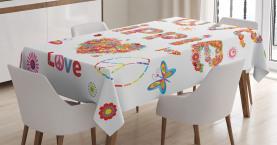 Liebe Hippie Vivid Floral Tischdecke