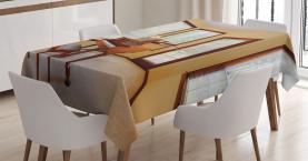 Runder Raum mit Klavier Tischdecke