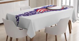 Sterne Stripes Feuerwerk Tischdecke