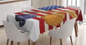 USA Flagge und Baseball Tischdecke