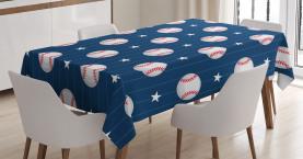 Baseball Artsy Streifen Tischdecke
