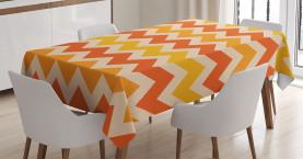 Gewellte geometrische Weinlese Tischdecke