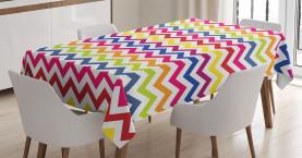 Regenbogen-Chevron-Spaß Tischdecke